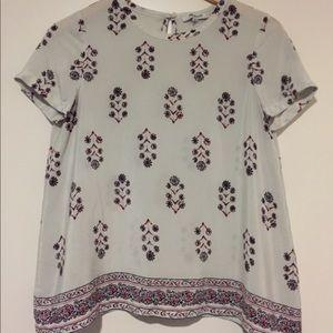 Madewell printed blouse